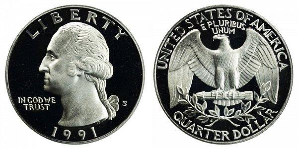 1991 S Washington Quarter Proof