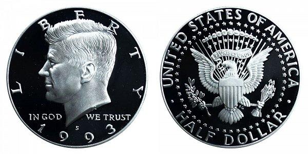 1993 S Silver Kennedy Half Dollar Proof