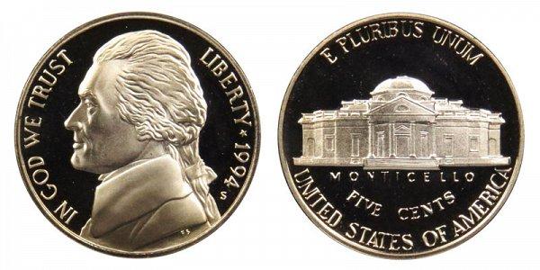 1994 S Jefferson Nickel Proof