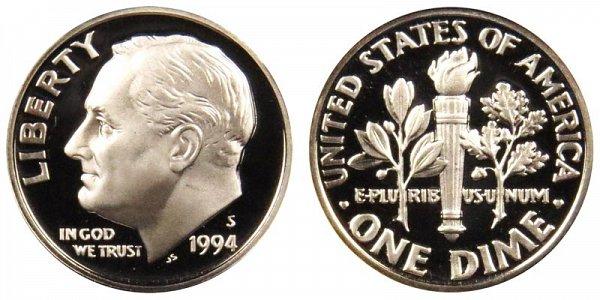1994 S Roosevelt Dime Proof