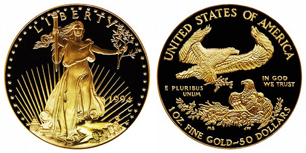 1994 W Proof One Ounce American Gold Eagle - 1 oz Gold $50