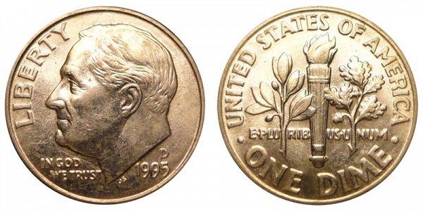 1995 D Roosevelt Dime