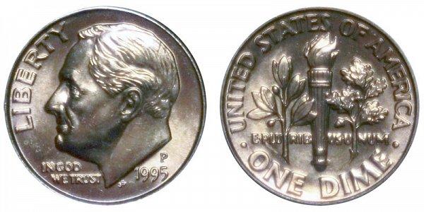 1995 P Roosevelt Dime