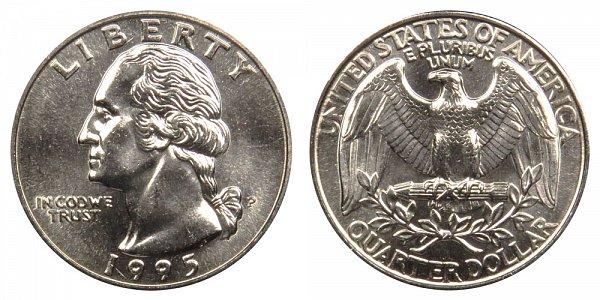 1995 P Washington Quarter