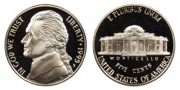 1995 S Jefferson Nickel Proof