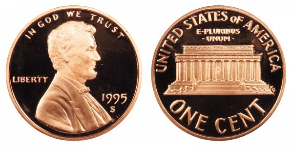 1995 S Lincoln Memorial Cent Penny Proof