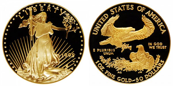 1995 W Proof One Ounce American Gold Eagle - 1 oz Gold $50
