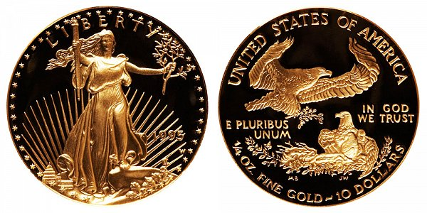 1995 W Proof Quarter Ounce American Gold Eagle - 1/4 oz Gold $10