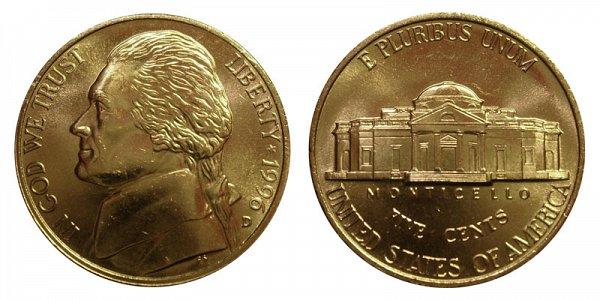 1996 D Jefferson Nickel