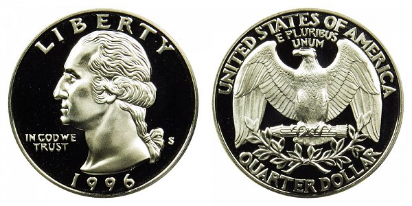 1996 S Washington Quarter Proof