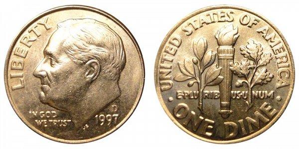 1997 D Roosevelt Dime