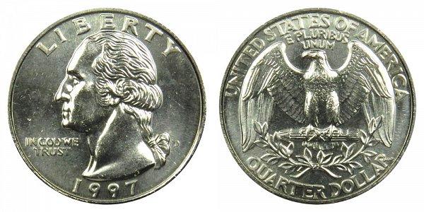 1997 D Washington Quarter