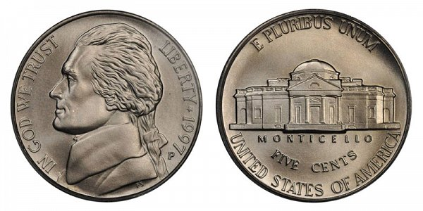 1997 P Special Frosted Matte Finish Jefferson Nickel