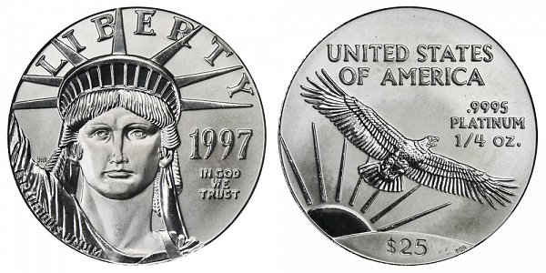 1997 Quarter Ounce American Platinum Eagle - 1/4 oz Platinum $25