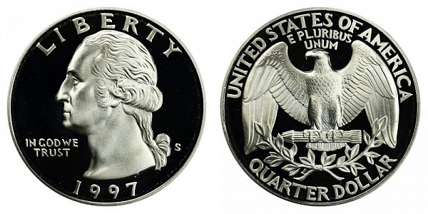 1997 S Silver Washington Quarter Proof