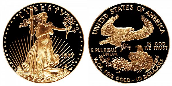 1997 W Proof Quarter Ounce American Gold Eagle - 1/4 oz Gold $10