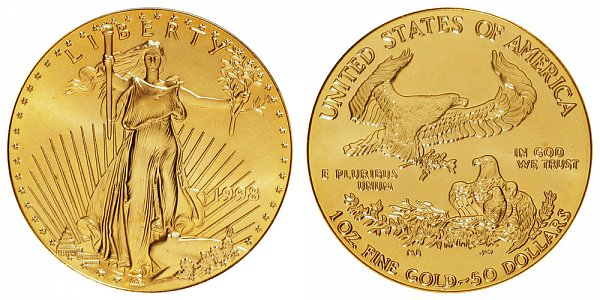 1998 One Ounce American Gold Eagle - 1 oz Gold $50