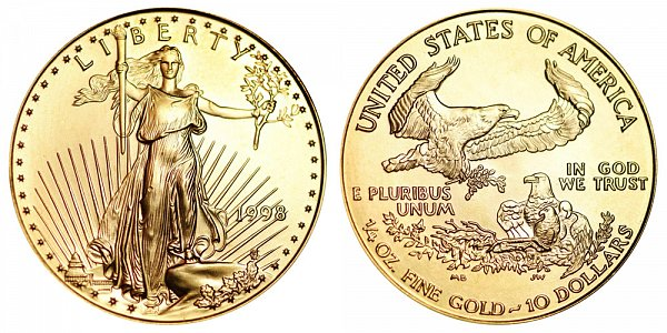 1998 Quarter Ounce American Gold Eagle - 1/4 oz Gold $10