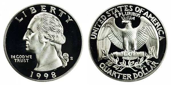 1998 S Silver Washington Quarter Proof