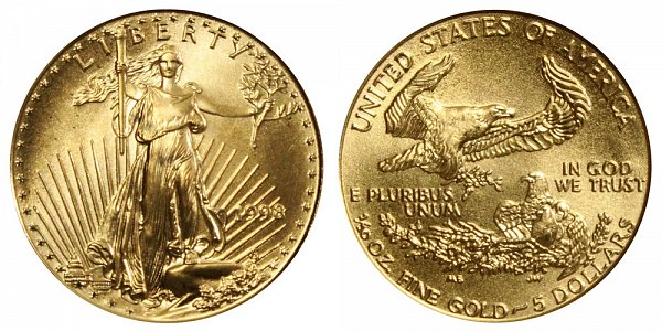 1998 Tenth Ounce American Gold Eagle - 1/10 oz Gold $5
