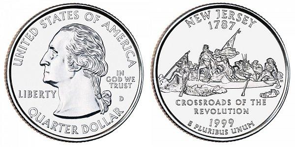 1999 D New Jersey State Quarter