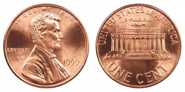 1999 Lincoln Memorial Cent Penny