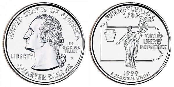 1999 P Pennsylvania State Quarter
