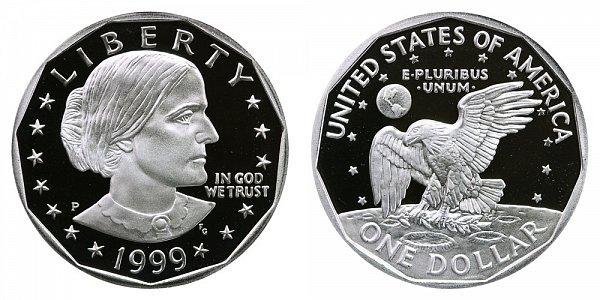 1999 P Susan B Anthony SBA Dollar Proof