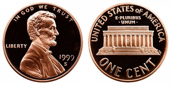 1999 S Lincoln Memorial Cent Penny Proof