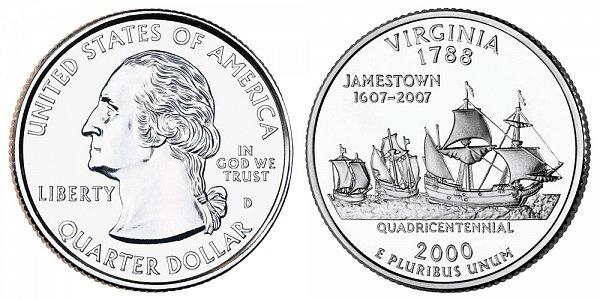 2000 D Virgnia State Quarter