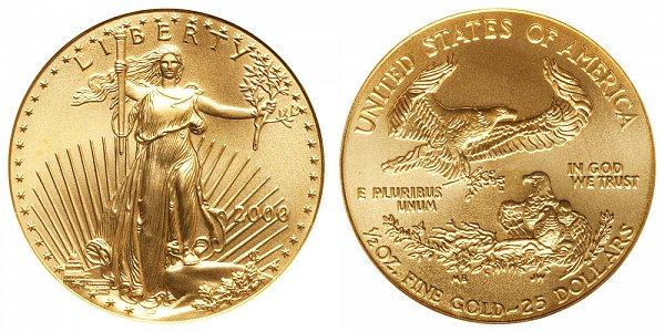2000 Half Ounce American Gold Eagle - 1/2 oz Gold $25