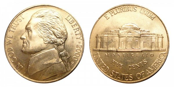 2000 P Jefferson Nickel