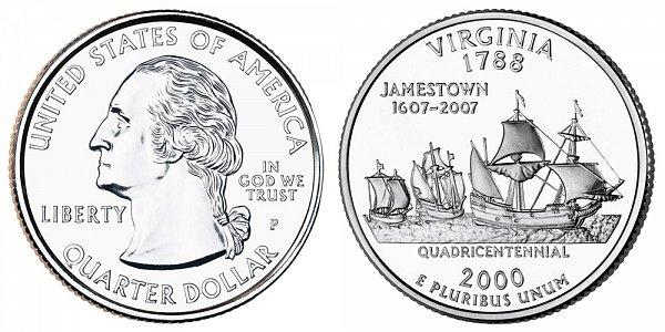 2000 P Virgnia State Quarter