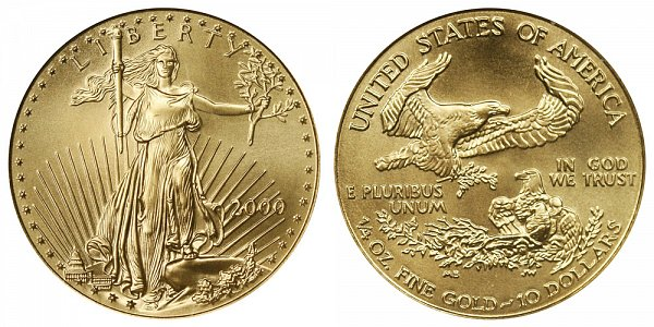 2000 Quarter Ounce American Gold Eagle - 1/4 oz Gold $10