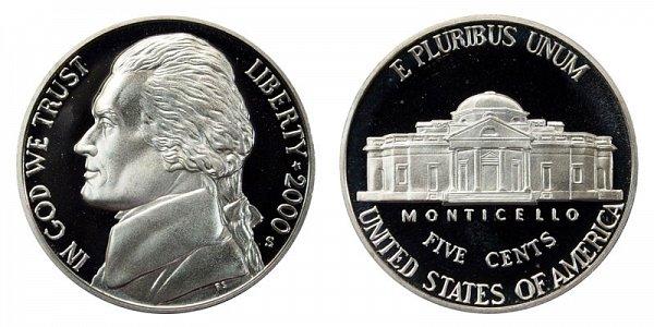 2000 S Jefferson Nickel Proof