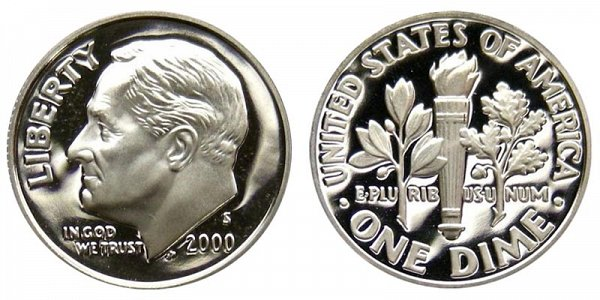 2000 S Roosevelt Dime Proof