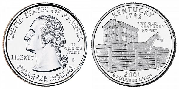 2001 D Kentucky State Quarter