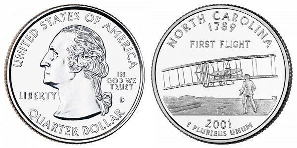 2001 D North Carolina State Quarter