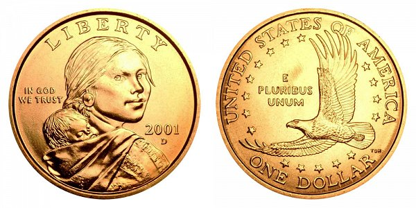 2001 D Sacagawea Dollar