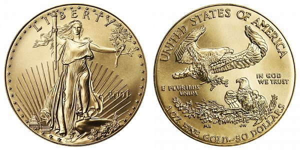 2001 One Ounce American Gold Eagle - 1 oz Gold $50