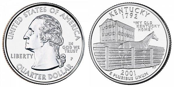 2001 P Kentucky State Quarter