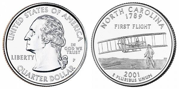 2001 P North Carolina State Quarter