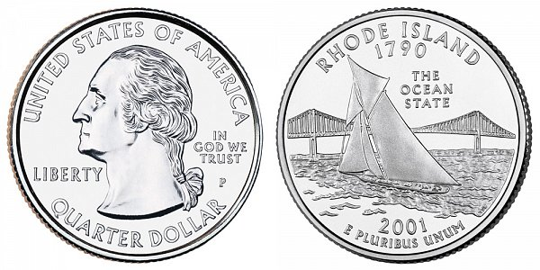 2001 P Rhode Island State Quarter