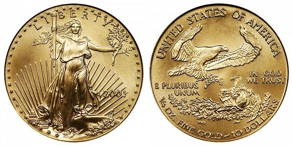 2001 Quarter Ounce American Gold Eagle - 1/4 oz Gold $10