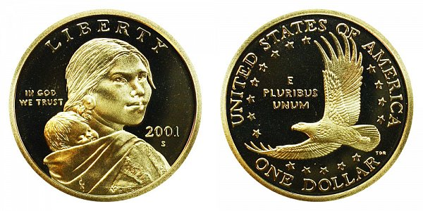 2001 S Sacagawea Dollar - Proof