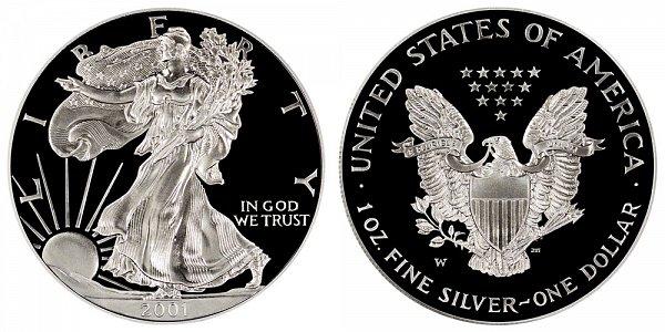 2001 W Proof American Silver Eagle