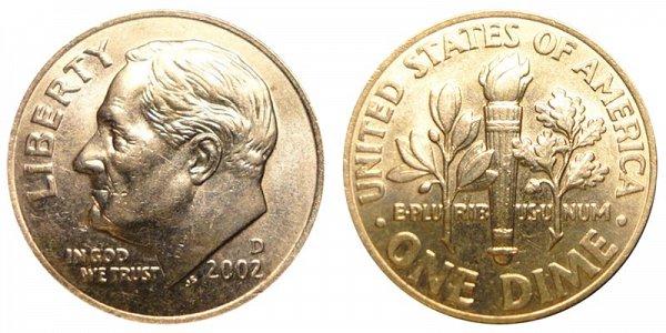 2002 D Roosevelt Dime