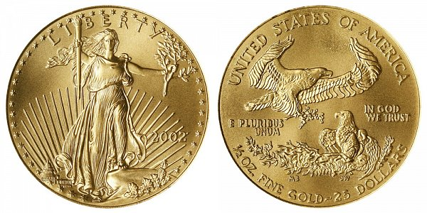 2002 Half Ounce American Gold Eagle - 1/2 oz Gold $25