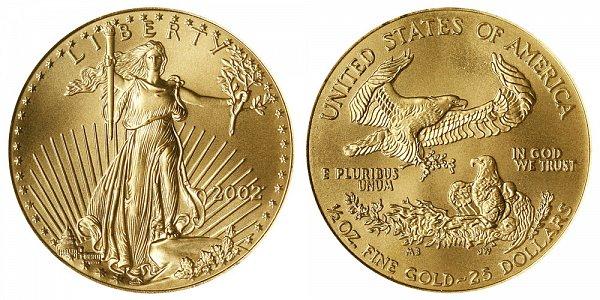 2002 Half Ounce American Gold Eagle - 1/2 oz Gold $25