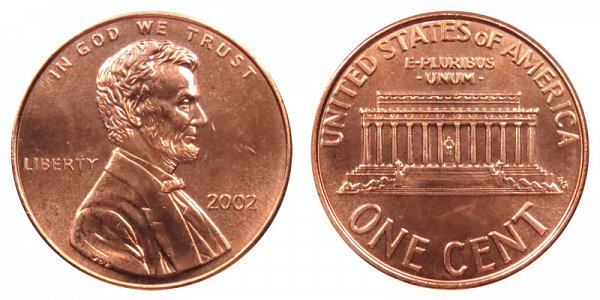 2002 Lincoln Memorial Cent Penny